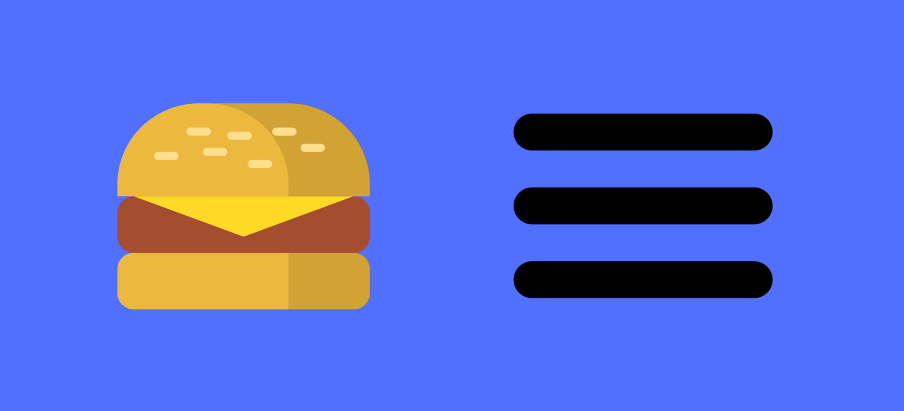 Tendințe în webdesign: meniu hamburger